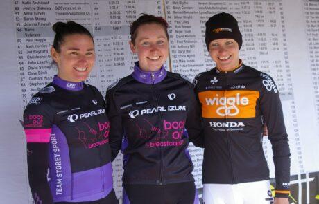 The podium of the women's event.