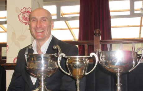 Mostyn Bullock with his trophy collection