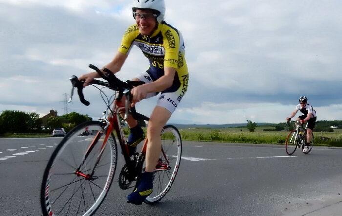 Liz Batt riding Len Eyre time trial